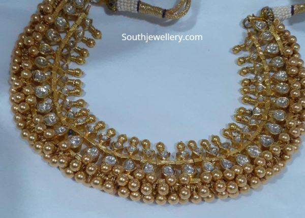 kundan tussi necklace