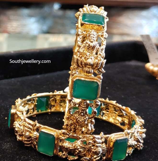 lakshmi bangles with emeralds