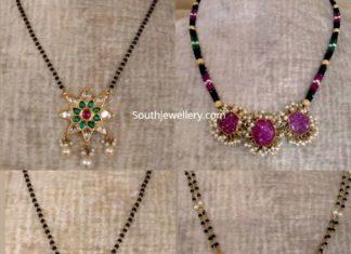 latest nallapusalu necklace designs