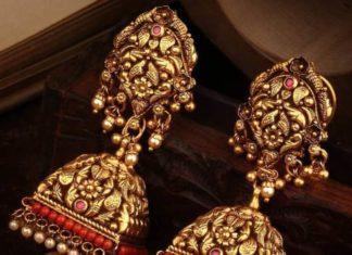 nakshi gold jhumkas svtm jewels