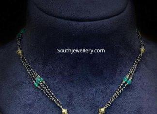 nallapusalu necklace with kundan pendant