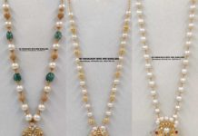 pearl chains with pendants