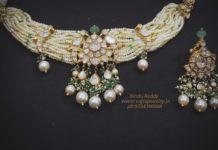 pearl choker and earrings vajra jewelry