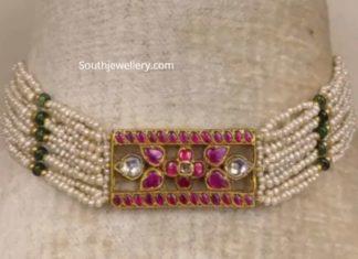 pearl choker plus bracelet