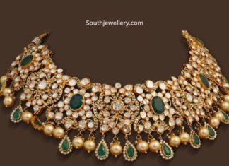 polki diamond and emerald necklace (1)