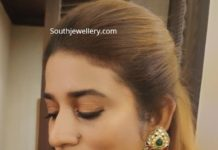 polki diamond earrings sushmita konidela