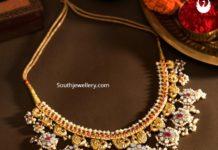 polki diamond guttapusalu necklace