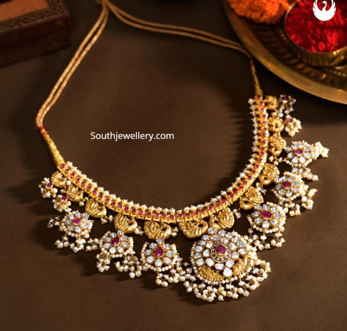 polki diamond guttapusalu necklace
