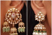 polki diamond jhumki designs (4)