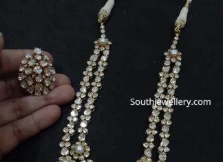 polki diamond necklace set vajra jewelry