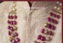 ruby beads necklace for groom