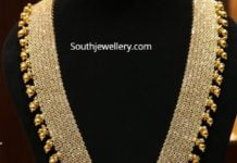 uncut diamond haram with lakshmi pendant