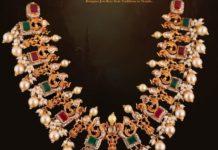 antique gold peacock necklace pavan mor