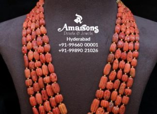 carved coral beads mala