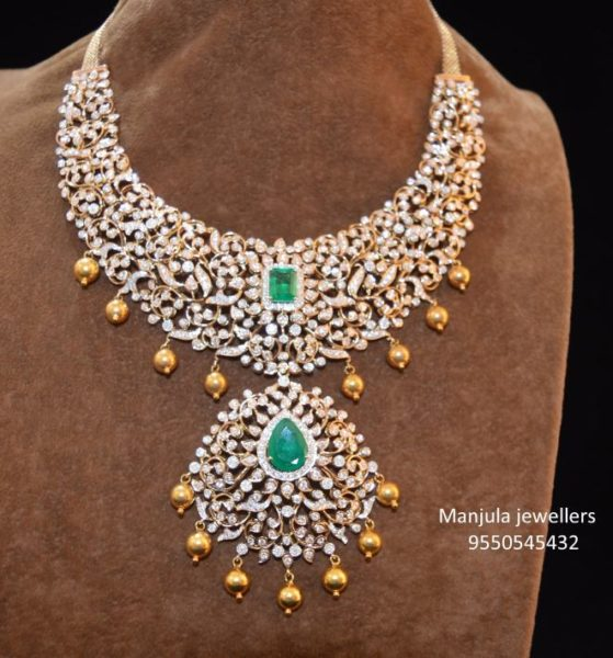 closed setting diamond necklace (5)