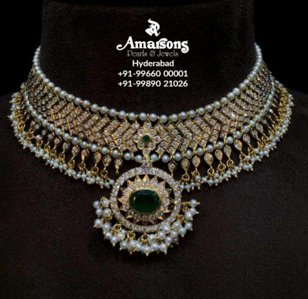 closed setting diamond necklace (6)
