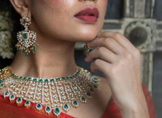 diamond and emerald necklace set (1)