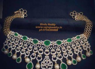 diamond emerald choker (4)