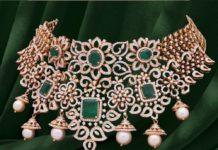 diamond emerald choker (5)