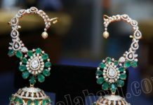 diamond emerald jhumkas (1)