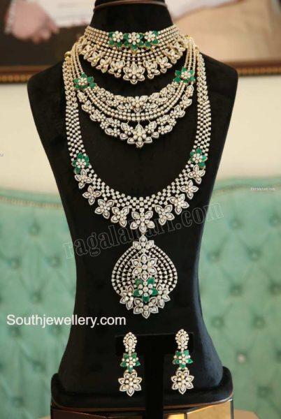 diamond emerald necklace designs
