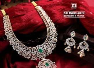 diamond haram and jhumkas