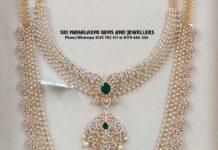 diamond necklace and haram set
