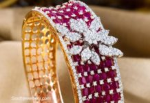 diamond ruby bangle