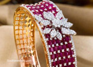 diamond ruby bangle