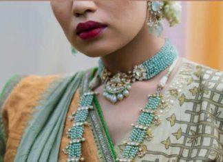 emerald beads choker and haram (2)