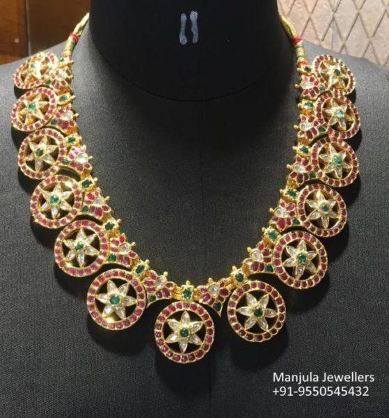 kundan bottu necklace (2)