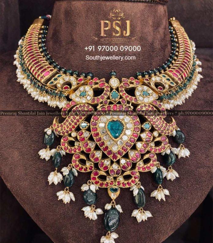 kundan peacock necklace (4)