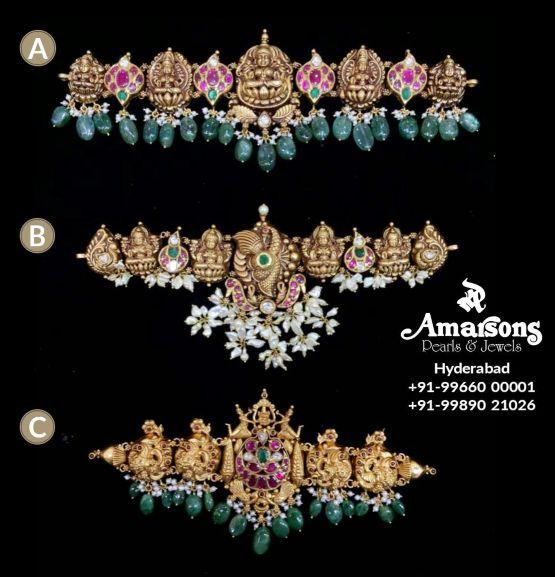 nakshi gold choker designs