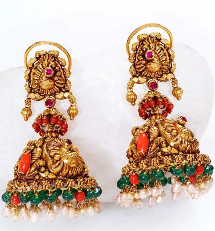 nakshi gold jhumkas (1)