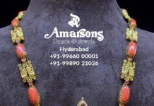 nakshi haram with radha krishna pendant