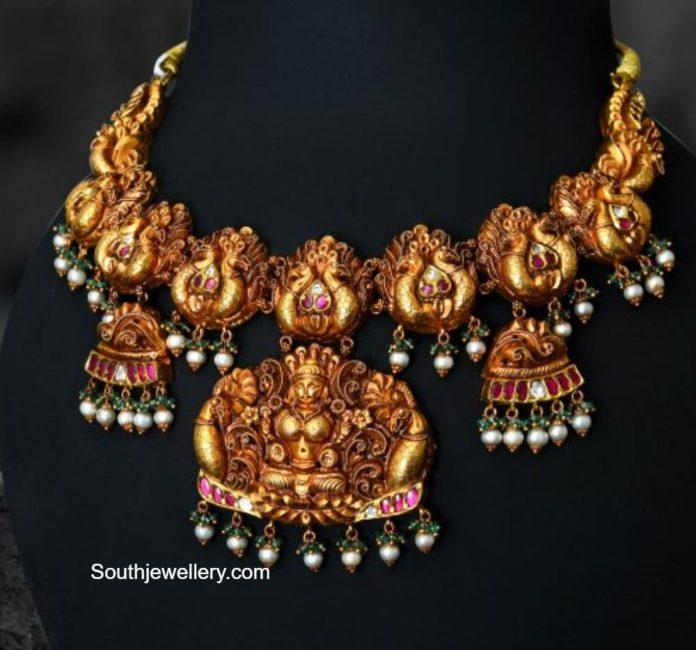 peacock kundan necklace (1)