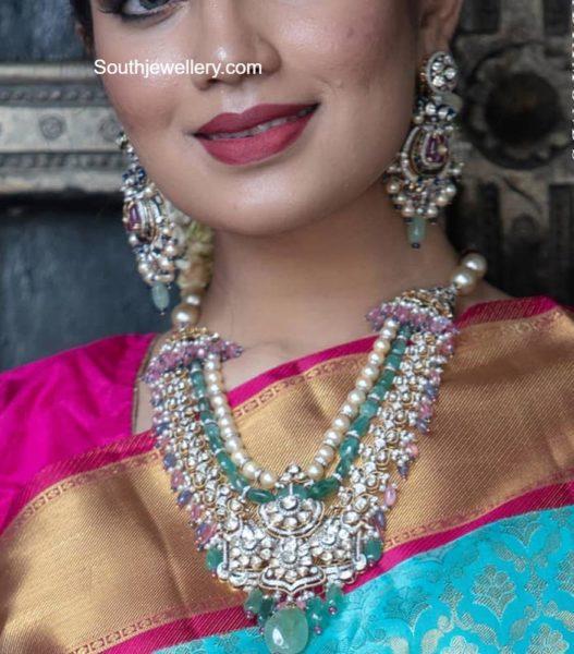 polki diamond necklace set (1)