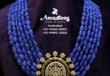 tanzanite beads necklace (3)
