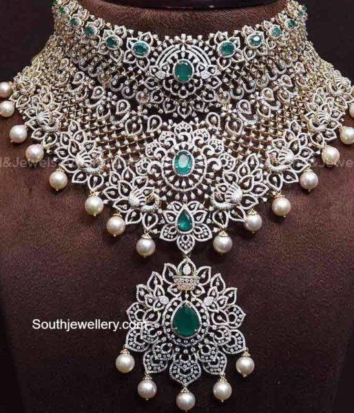 bridal diamond choker