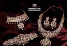 closed setting diamond necklace and vaddanam set