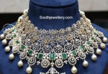 diamond and emerald choker ganesh jewellers