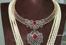diamond necklace and pearl haram