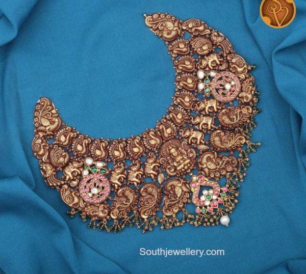 elephant and lakshmi necklace
