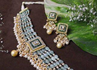 emerald beads choker (4)