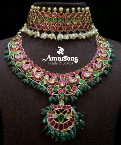 kundan choker and necklace