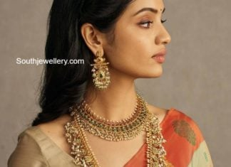 kundan necklace and haram (1)