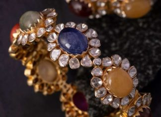 multi color stones bangle