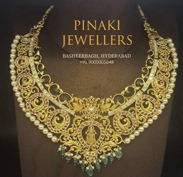 peacock nakshi necklace (10)
