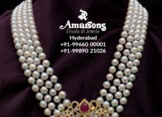 south sea pearl necklace polki pendant