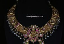 antique gold nakshi necklace
